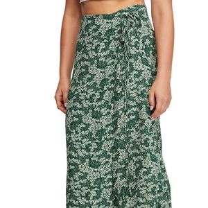 Free People Floral Wrap Skirt